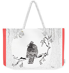Party Time In Birdville Weekender Tote Bag