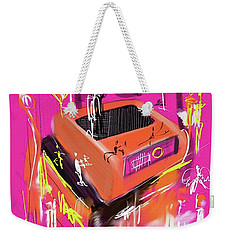 Weekender Tote Bag featuring the digital art Party Time  by Sladjana Lazarevic