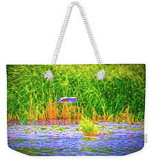 Weekender Tote Bag featuring the photograph Passing Artistic. by Leif Sohlman