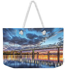 Passing Clouds Above Chattanooga Pano Weekender Tote Bag