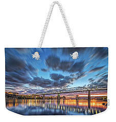 Passing Clouds Above Chattanooga Weekender Tote Bag by Steven Llorca
