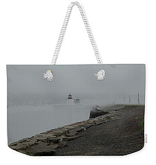 Weekender Tote Bag featuring the photograph Passing In The Fog by Jeff Folger