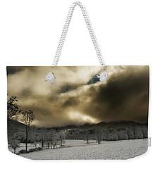 Passing Snow In North Carolina Weekender Tote Bag by Greg Mimbs