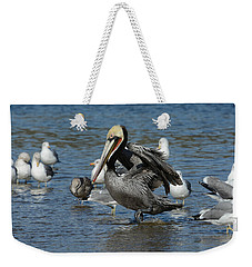 Weekender Tote Bag featuring the photograph Passing Through by Fraida Gutovich