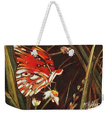 Passion Butterfly - Gulf Fritillary Weekender Tote Bag