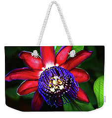 Weekender Tote Bag featuring the photograph Passion Flower by Anthony Jones