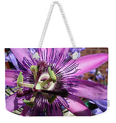 Weekender Tote Bag featuring the photograph Passion Flower by Jolanta Anna Karolska