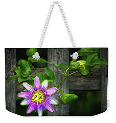 Passion Flower On The Fence Weekender Tote Bag