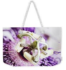 Passion Flower Weekender Tote Bag by Stephanie Frey
