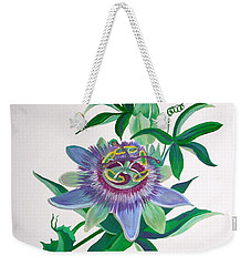 Passion Flower Weekender Tote Bag by Tracey Harrington-Simpson
