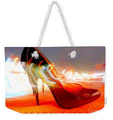 Weekender Tote Bag featuring the photograph Passion For Heels by Don Pedro De Gracia