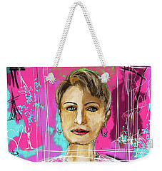 Weekender Tote Bag featuring the digital art Passport Photo by Sladjana Lazarevic