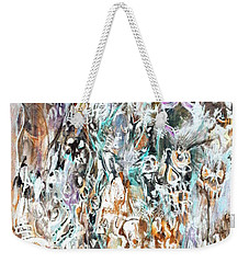 Weekender Tote Bag featuring the painting Past Life Trauma Inverted by Reed Novotny