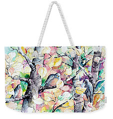 Pastel Aspen With Robins Weekender Tote Bag