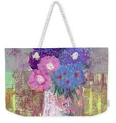Pastel Colored Flower Still Life Weekender Tote Bag