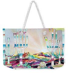 Pastel Desert Landscape Weekender Tote Bag