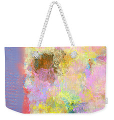 Weekender Tote Bag featuring the digital art Pastel Flower by Jessica Wright