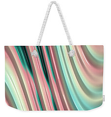 Weekender Tote Bag featuring the photograph Pastel Fractal 2 by Bonnie Bruno