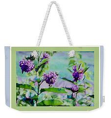 Pastel Green Field Flowers Weekender Tote Bag