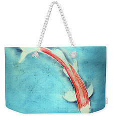 Pastel Koi Weekender Tote Bag by David Jackson