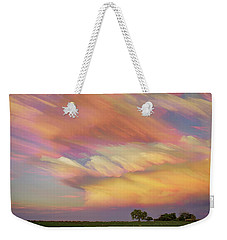 Weekender Tote Bag featuring the photograph Pastel Painted Big Country Sky by James BO Insogna
