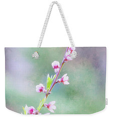 Pastel Painted Peach Blossoms Weekender Tote Bag