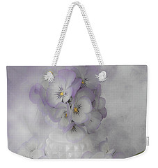 Pastel Pansies Still Life Weekender Tote Bag by Sandra Foster