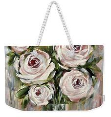 Pastel Pink Roses Weekender Tote Bag