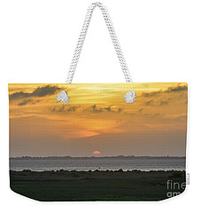 Weekender Tote Bag featuring the photograph Pastel Sky by Debra Martz