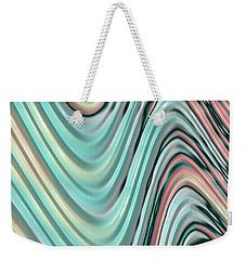 Weekender Tote Bag featuring the digital art Pastel Zigzag by Bonnie Bruno