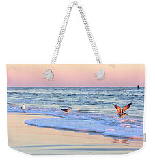 Pastels On Water Weekender Tote Bag by Faith Williams
