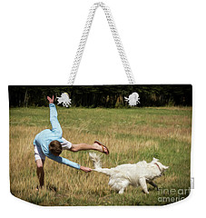 Pasture Ballet Human Interest Art By Kaylyn Franks   Weekender Tote Bag