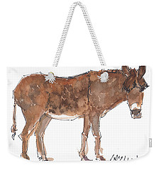 Pasture Boss 2015 Watercolor Painting By Kmcelwaine Weekender Tote Bag