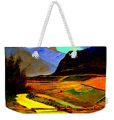 Pasture In The Mountains Weekender Tote Bag