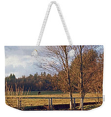 Weekender Tote Bag featuring the photograph Pasture Pond by Laurie Stewart
