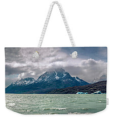 Weekender Tote Bag featuring the photograph Patagonia Lake by Andrew Matwijec