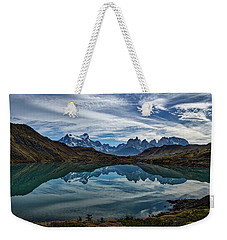 Patagonia Lake Reflection - Chile Weekender Tote Bag