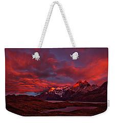 Patagonia Sunrise - Chile Weekender Tote Bag by Stuart Litoff