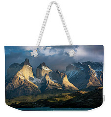 Weekender Tote Bag featuring the photograph Patagonian Sunrise by Andrew Matwijec