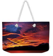 Patagonian Sunrise Weekender Tote Bag