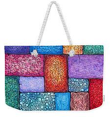 Patchwork Weekender Tote Bag