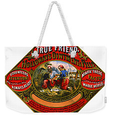 Weekender Tote Bag featuring the photograph Patent Medicine Label 1862 by Padre Art