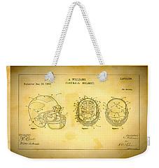 Patent Art Michigan Helmet Weekender Tote Bag by Big 88 Artworks