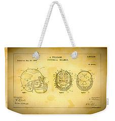 Patent Art Michigan Helmet Weekender Tote Bag