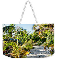 Weekender Tote Bag featuring the photograph Path Along The Palms by Lawrence Burry