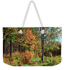 path in a beautiful country Park on a Sunny autumn day Weekender Tote Bag