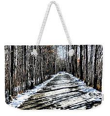 Path In Winter Weekender Tote Bag