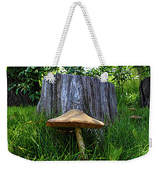 Weekender Tote Bag featuring the photograph Path Of Mushrooms by Shane Bechler