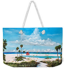 Path On Siesta Key To The Red Lifeguard Shack Weekender Tote Bag
