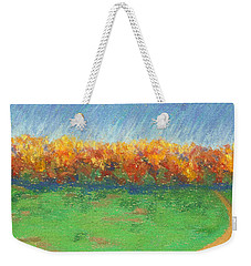 Path To Autumn Trees Weekender Tote Bag